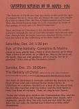 Nativity Service Details